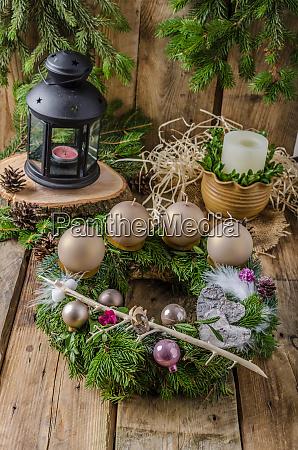 weihnachts adventskranz