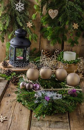 weihnachten adventskranz hausgemacht schoenes geschenk an