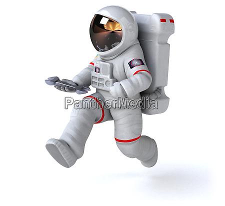 astronaut concept 3d illustration