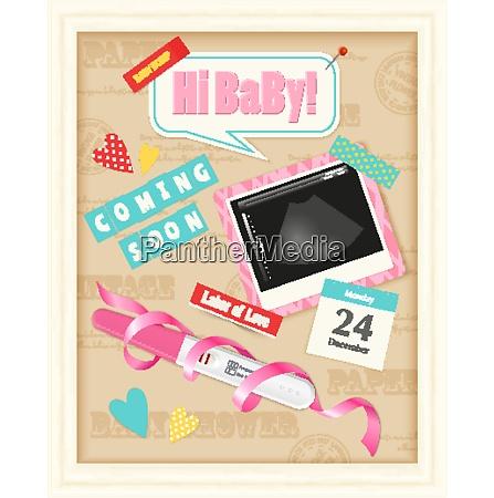 coming soon baby girl realistic scrap