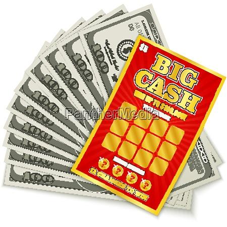 scratch lottery card big cash game