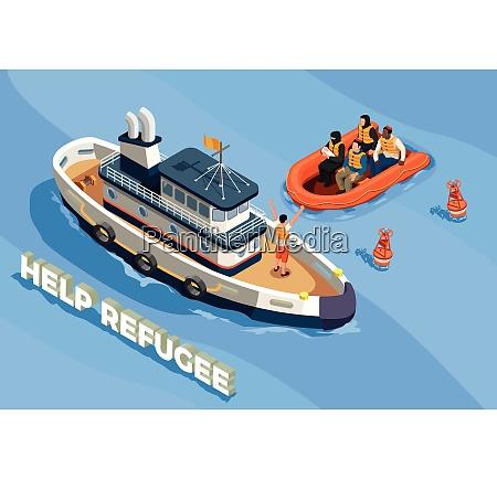 staatenlose, flüchtlinge, asyl, ikonen, isometrische, zusammensetzung - 27148065