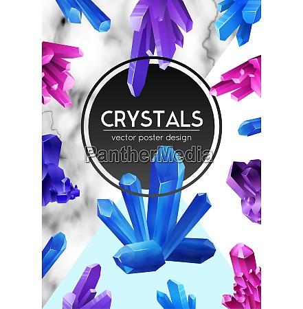 bright violet purple blue crystals on