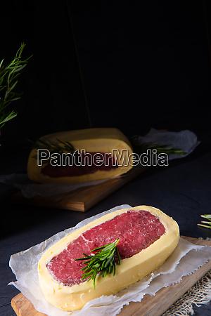 steaks in butter gereift mit meersalz