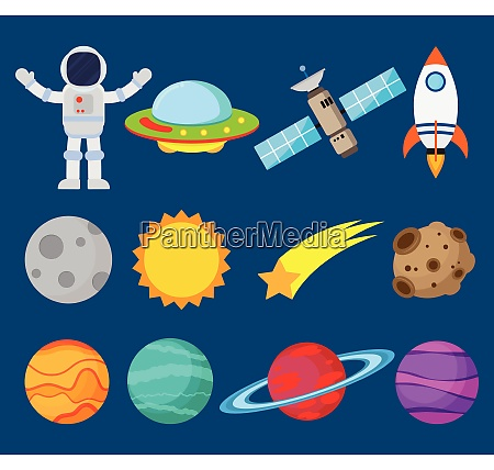 collection of astronauts in space and