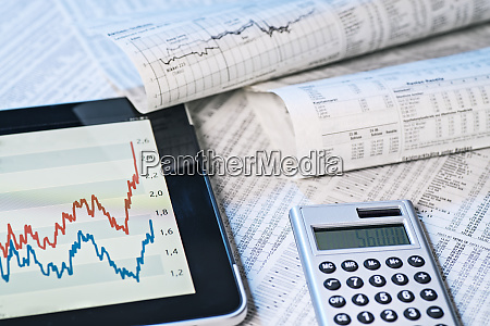 stock prices digital and analog