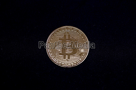 bitcoin crypto currency isolated on white