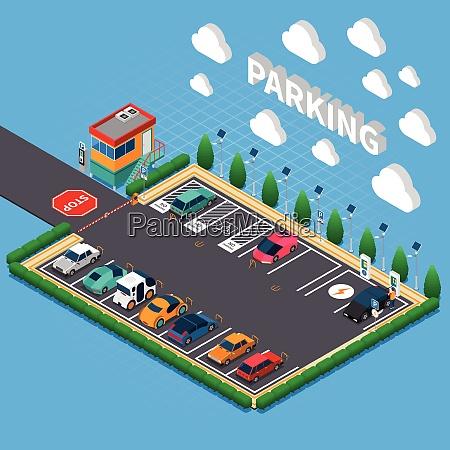 senkrechter parkplatz mit stecker in elektrofahrzeugen