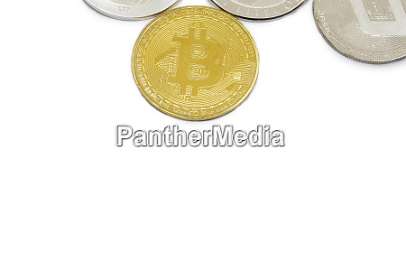 set, of, cryptocurrencies, with, a, golden - 27154769