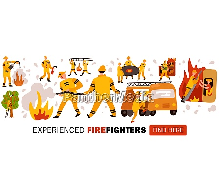 experienced fire fighters during dangerous work