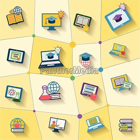 online bildung global studium dekorative symbole