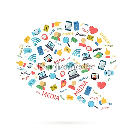 social media computer netzwerke symbole piktogramme