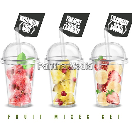 fruit mix 3 realistic summer snacks