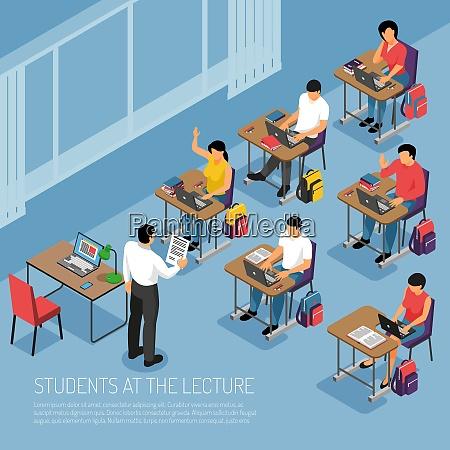 hochschulstudenten die notizen bei tutorial vorlesungen