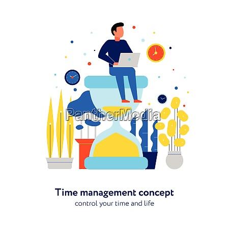 time management effective schedule control concept