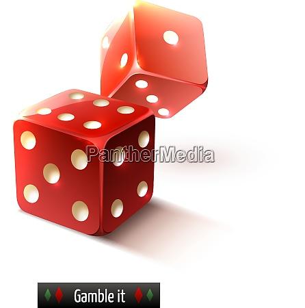 game gamble casino dice set realistic
