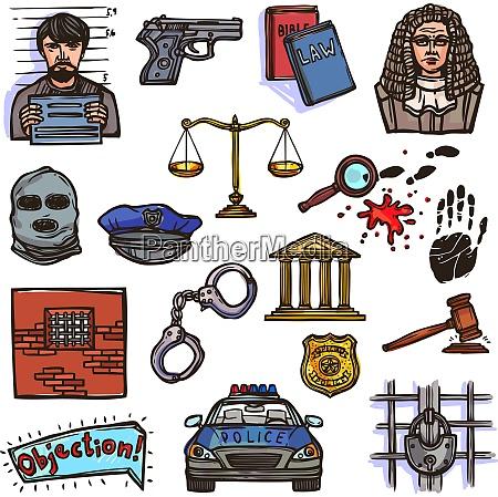 dekorative set sammlung icons objekt symbol