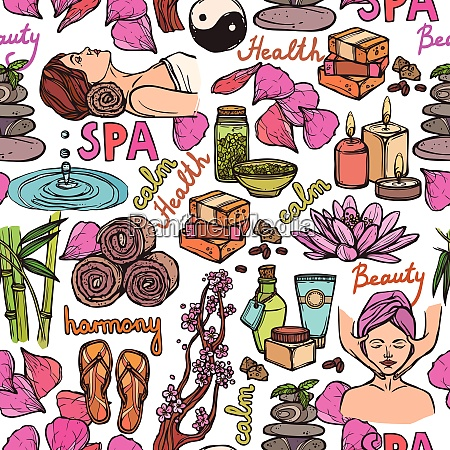 spa therapie schoenheit gesundheit wellness skizze
