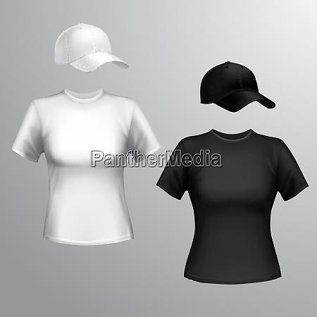 damen schwarz und weiss t shirt