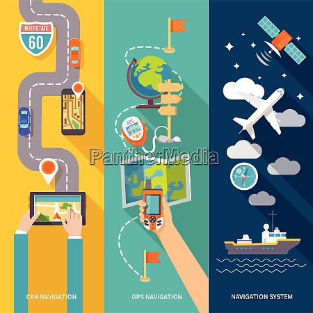 navigation gps routing system vertical