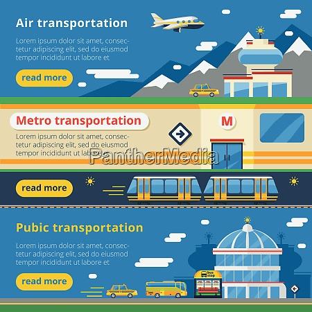 personentransport horizontale banner satz von luft