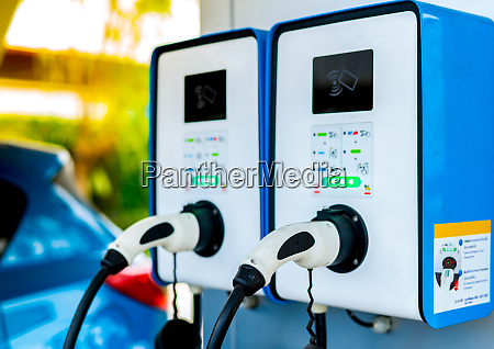 electric car charging station plug for