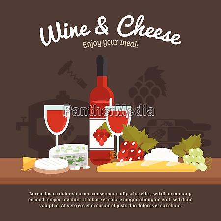 wein, und, käse, stillleben, mit, genießen - 27179150