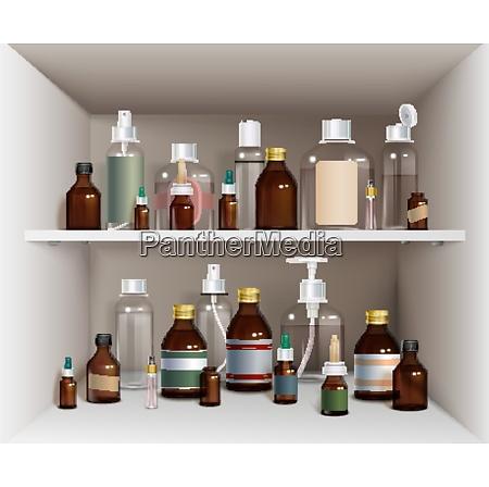 medical bottles elements collection medical bottles