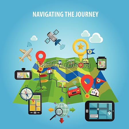 navigation and location in journey and