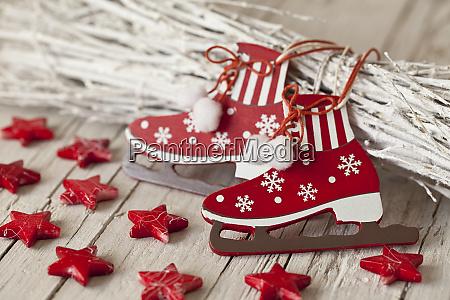 rot weiss skandinavischen stil weihnachtsdekoration
