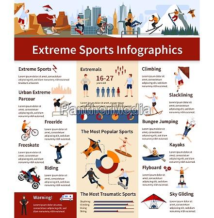 flache design infografiken mit informationen ueber