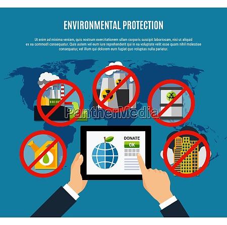 umweltschutzkonzept mit sauberen planetensymbolen flache vektor