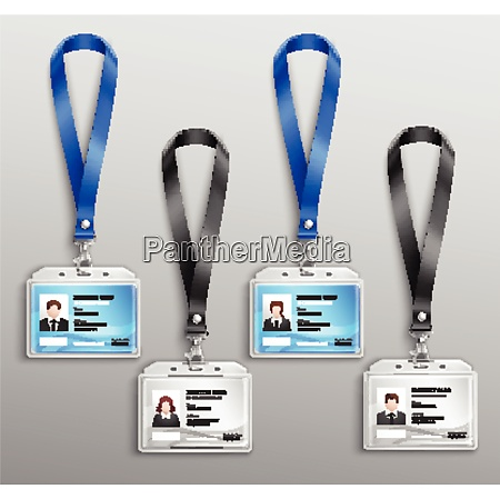 clear plastic name tag badges id