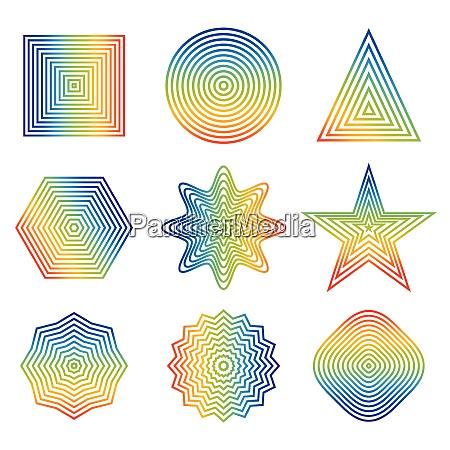 vector illustration of rainbow line in