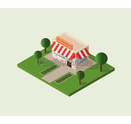 vector illustration of isometric building