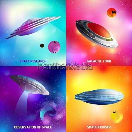 designkonzept, mit, außerirdischem, raumschiff, während, der - 27201075