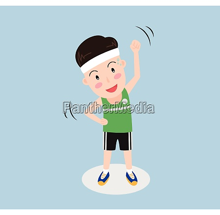 vector illustration a man exercise isolated