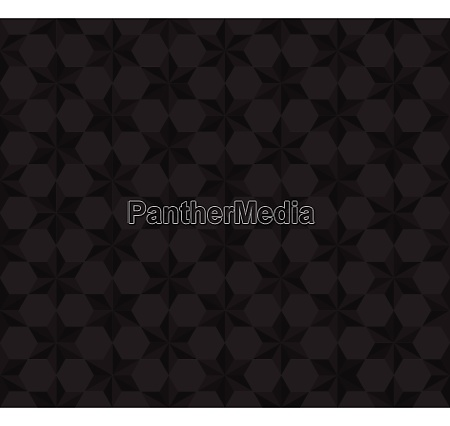 seamless pattern black stars polygon background