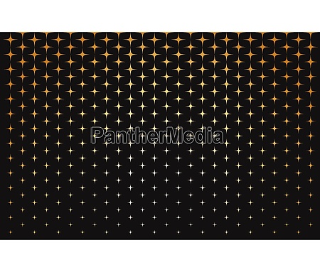 abstract pattern of scale gold stars