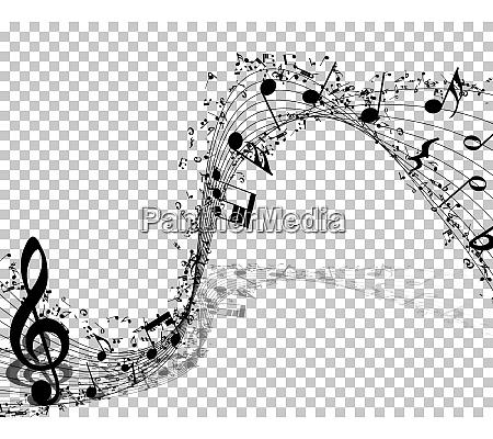 musikalische noten hintergrund transparenz raster design