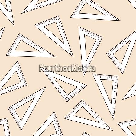 school triangle scale seamless