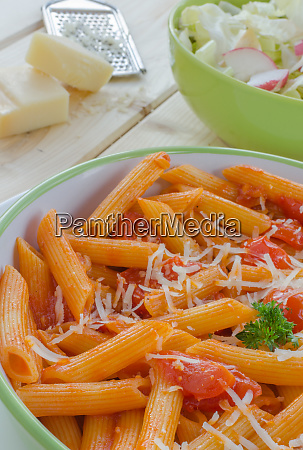 fresh pasta with tomatoes parmesan cheese