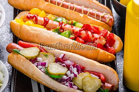 alle rinderhunde variante von hot dogs