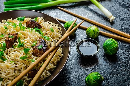 asian chicken noodles salad