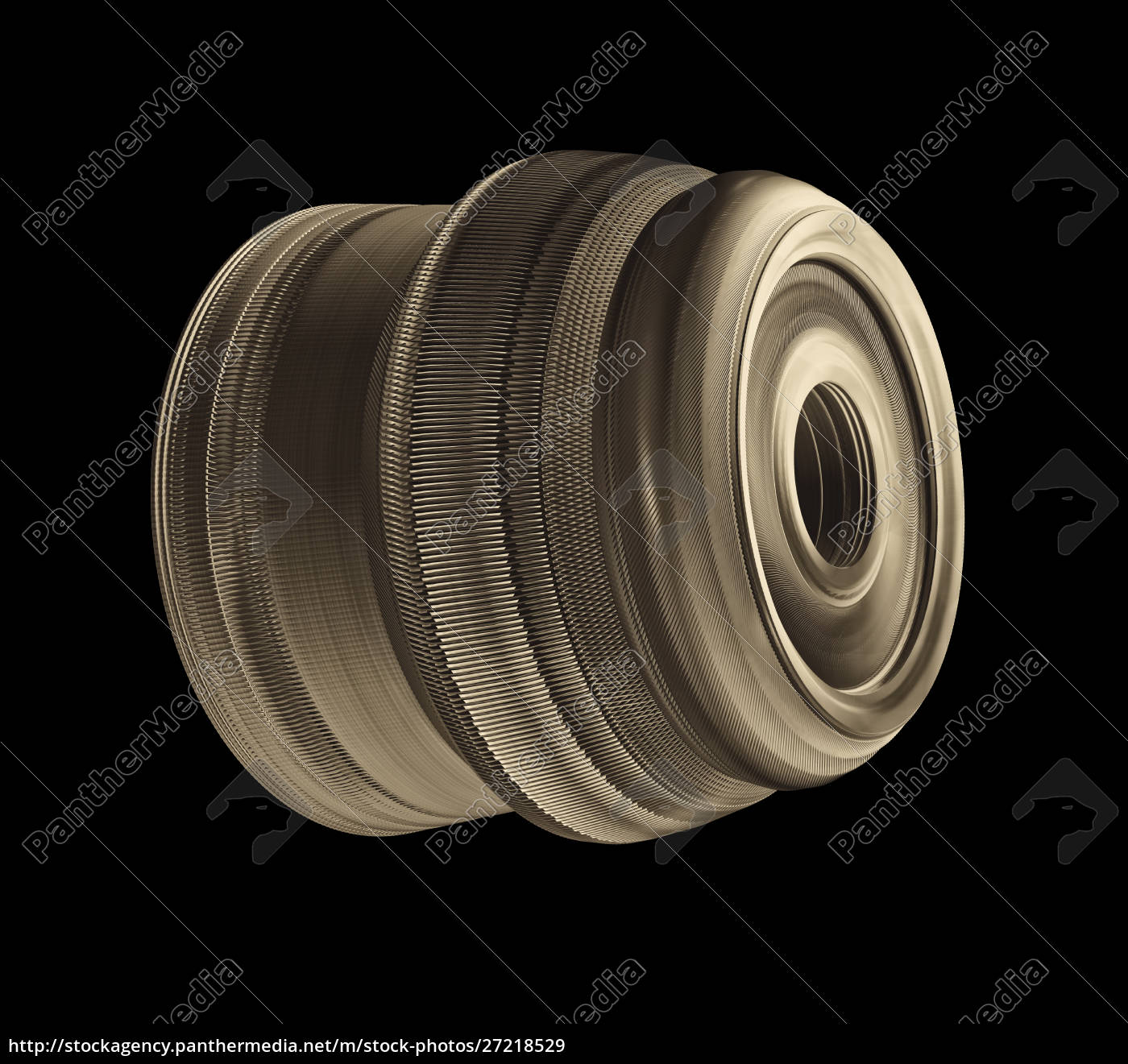 industrial, steel, connector, isolated, on, black - 27218529
