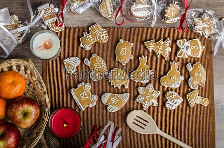verarbeitung von lebkuchen adventskalender
