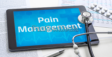 the word pain management on the