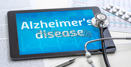 the word alzheimers disease on the