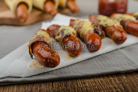 fried sausage in a robe of