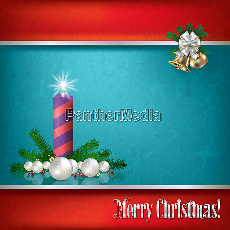 abstract grunge background with christmas decorations